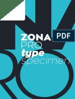 Zona Pro Type Specimen