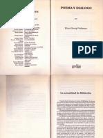 Hans Georg Gadamer, Actualidad de Hölderlin, En Poema y Diálogo