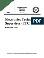 US Navy Training Course - Electronics Technician Supervisor ETC
