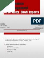 Maintenance Shahi