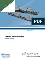 Thomson T Series Profile Rail Specsheet