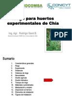 Riego Huertos Experimentales Chia