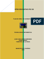 Plan de Area Pio Xii en Construcción (Reparado)