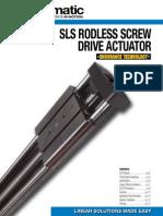 Tolomatic SLS-MLS Rodless, Screw Drive, Actuator Catalog