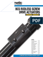 Tolomatic BCS-MCS Rodless, Screw Drive, Actuator Brochure