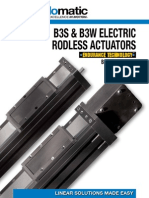 Tolomatic B3S & B3W Electric Rodless Actuator Brochure