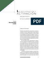Elodia Hernandez La recuperación y activación del patrimonio en las ciudades historicas