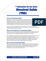 WATER HEALTH--WELLCARE's -Total Dissolved Solids in Drinking-water