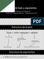 Edición de Tesis y Argumentos