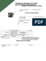 Registro de Datos Personales