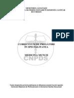 Curriculum Rezidentiat Medicina Muncii