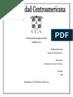 Economía Empresarial Trabajo 3