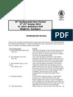 Sponsorship Form 2014