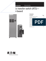 Contactor-based Automatic Transfer Switch (ATS) Technical Data