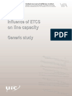 Influence of Etcs on Line Capacity Generic Study