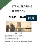 Industrial Training in Ntpc