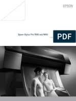 Epson Stylus Pro 7890 9890 Professional Photographic Product Brochure