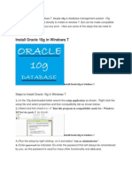 DBA - Oracle 10g Installation Step by Step