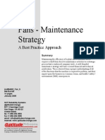 Fans - Maintenance Strategy