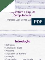 Arquitetura e Org. de Computadores Cap1