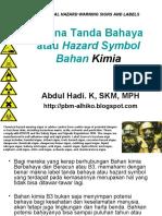 BAB a- Makna Tanda Bahaya Atau Hazard Symbol Bahan Kimia - Alhiko