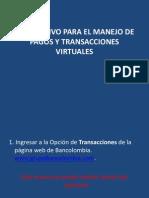 Instructivo Para El Manejo de Pagos y Transacciones