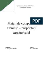 Materiale compozite fibroase
