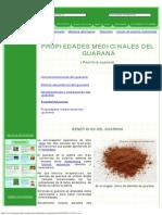 Propiedades Del Guaraná