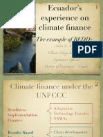 Ecuador's experience on climate finance
