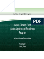 Green Climate Fund Status Update and Readiness Program