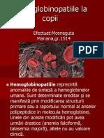 Hemoglobinopatiile La Copii