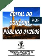 edital pmTobias Barreto