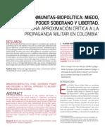 Artículo_Inmunitas Biopolítica_Miedo Poder Soberano y Libertad