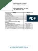 Calendário PPGA 2 20141