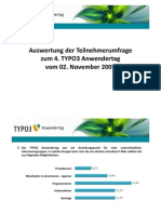 Umfrage-Auswertung TYPO3 Anwendertag 2009