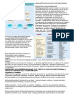 PROPUESTAS EDUCATIVAS CONTEMPORÁNEAS