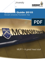 Sunway University College Monash University Foundation Year (MUFY) 2010