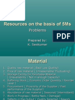 Resources on the Basis of 5Ms