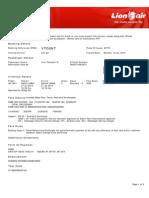 Lion Air ETicket (VTOSNT) - Adriansyah