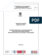 Informe Secretaria General Marzo 2014