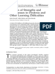 Profiles of Strengths and Weaknesses in Dyslexia and Other Learning Difficulties