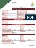VSRP Application (New)