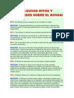 Algunos Mitos y Realidades Sobre El Bonsai