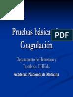 pruebas basicas coagulacion