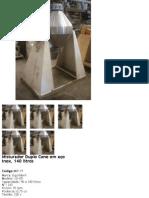 Misturador Duplo Cone Em Aço Inox, 140 Litros