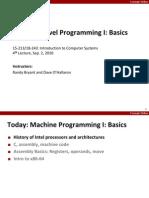 Lec2 MachineLevelProgramming Basics