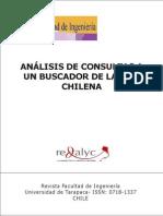 Análisis de consultas a un buscador de la web chilena