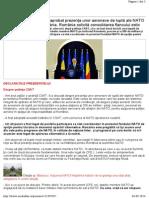 Traian Băsescu - CSAT a Aprobat Prezenţa Unor Aeronave de Luptă Ale NATO Pe Aeroporturile Din România
