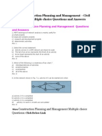 Construction Planning and Management Multiple Choice Questions