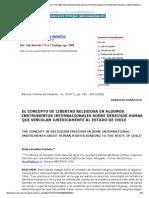 Revista Chilena de Derecho - El Concepto de Libertad Religiosa en Algunos Instrumentos Internacionales Sobre Derechos Humanos Que Vinculan Jurídicamente Al Estado de Chile